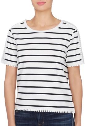 Catherine Malandrino Jersey Stripes Top