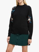 French Connection Tilda Embroidery Jumper, Black