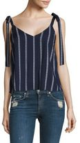 Splendid Striped Tie-Shoulder Top