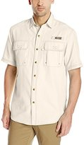 G.H. Bass Men's Short Sleeve Explorer Solid Fishing Shirt