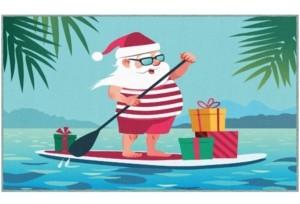 "Mohawk Paddleboard Santa Accent Rug, 30"" x 50"" Bedding"
