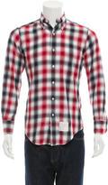 Thom Browne Button-Down Flannel Shirt