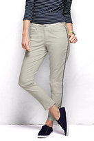 Classic Women's Petite Pre-hemmed Not-Too-Low Rise Piped Chino Pants-Light Stone