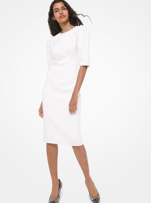 Michael Kors Stretch Boucle Puff-Sleeve Sheath Dress