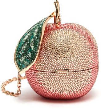 Judith Leiber 'Peach' crystal clutch