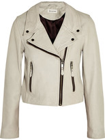 Etoile Isabel Marant Aken Washed-leather Biker Jacket - Ecru