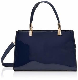 N.V. Bags Womens 709 Top-Handle Bag Grey (Grey Patent) 11x18x28 cm (W x H x L)