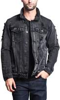 Victorious G-Style USA Distressed Denim Jacket DK100 - BLACK - EE1F