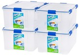 Iris Ziploc WeatherShield 60 Qt Storage Box - 4 Pack