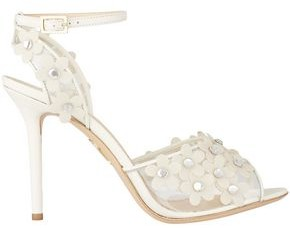 Charlotte Olympia Daisy Floral-appliqued Pvc And Leather Sandals
