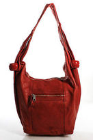 See by Chloe Cherry Red Leather Single Strap Full Zipper Closure Hobo Shoulder H