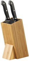 KitchenCenter Zeller 25328 9.5 x 15 x 23.5 cm Knife Block with Brush Attachment Bamboo
