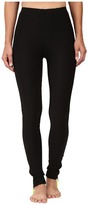 Plush Fleece-Lined Zippered Running Leggings with Pocket