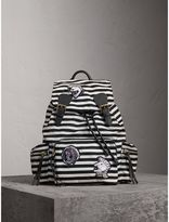 Burberry The Medium Rucksack with Pallas Heads and Helmet Appliqué