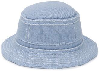 Barrie stitch detail bucket hat