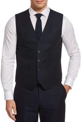 Perry Ellis Principles Linen Cotton-Blend Twill Vest