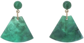 Basque Triangle Drop Earring Green