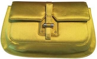 Saint Laurent Yellow Silk Clutch bags