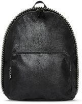 Stella McCartney black falabella shaggy deer backpack