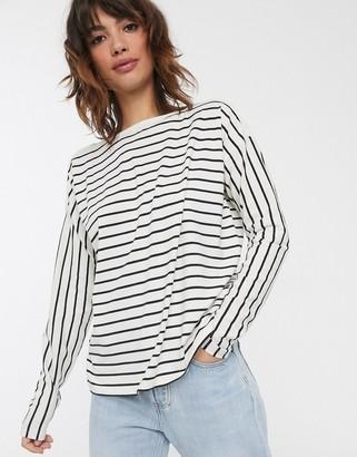 French Connection breton stripe long sleeve t-shirt