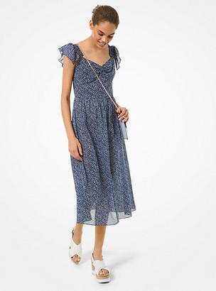 Michael Kors Floral Cotton Lawn Midi Dress