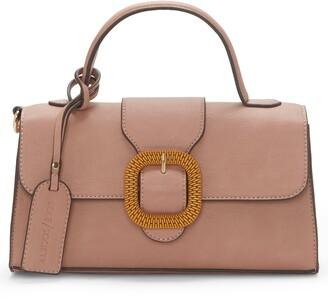 Sole Society Lumi Buckle Flap Faux Leather Crossbody Bag