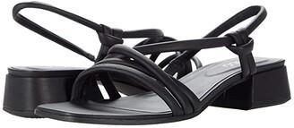 Ecco Elevate Square Strap Sandal (Black Cow Leather) Women's Shoes