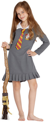 Intimo Girls' Nightgowns Gray - Harry Potter Gray 'Gryffindor' Uniform Costume Nightgown