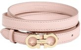 Salvatore Ferragamo 15mm Embossed Leather Belt