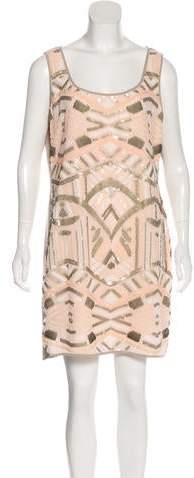 Hale Bob Embellished Mini Dress