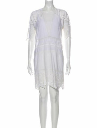 Ulla Johnson V-Neck Mini Dress White