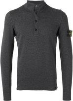 Stone Island henley sweatshirt - men - Cotton - XL