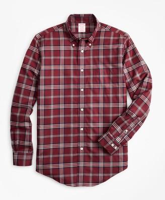 Brooks Brothers Non-Iron Madison Fit Signature Tartan Sport Shirt