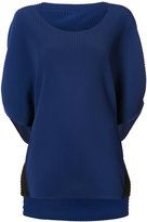 Issey Miyake ribbed knit top - women - Polyester - 2