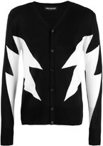 Neil Barrett thunderbolt cardigan - men - Merino - L