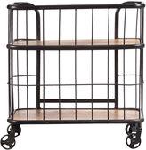 Asstd National Brand Industrial Wood & Metal Trolley Bar Cart