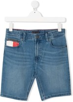 TEEN branded denim shorts