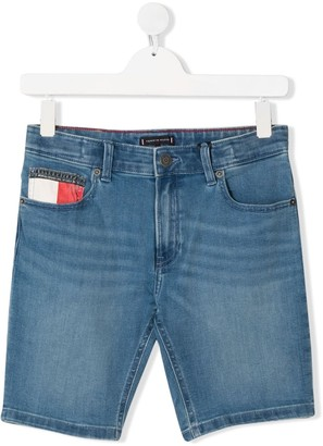 Tommy Hilfiger Junior TEEN branded denim shorts
