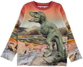 Molo Boy's Mountoo T-Rex Printed Sweatshirt, Size 4-10
