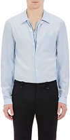 Maison Margiela Men's Zip- & Button-Front Shirt-LIGHT BLUE