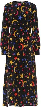 Rixo Emma printed silk midi dress