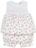 Kissy Kissy Girls' Blooming Berries Print Top & Bloomers Set - Baby