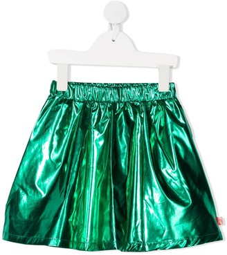 Billieblush Green Metallic Skirt