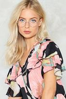 Nasty Gal nastygal Loud and Clear Round Glasses