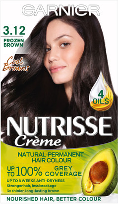Garnier Nutrisse Cream Nourishing Permanent Hair Colour 3.12 Frozen Brown