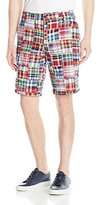 Izod Men's Flat Front Madras Patchwork Short