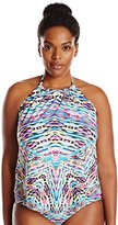 Kenneth Cole Reaction Women's Plus-Size Hot To Trot Hanky Tankini