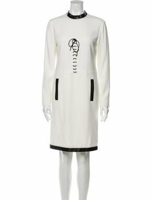 Tom Ford Mock Neck Knee-Length Dress White