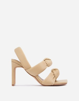 Ego x Molly-Mae Infatuated padded heeled sandals in beige