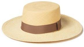 Sensi Grosgrain-trimmed Straw Sun Hat